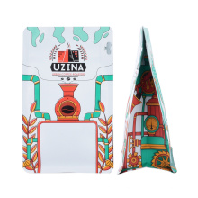 Ziplock Aluminum Foil Block Bottom Valve Snack Nut Recyclable Laminated Bag Stand up Pouch Zipper Coffee Packaging Bag