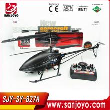 2.4G 827A-3.5CH aluminium alliage rc hélicoptère gyro avec LED