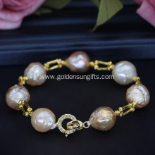 New Style 11-13MM Freshwater Baroque Pearl Bracelet