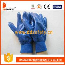 Guante de trabajo de algodón recubierto de nitrilo resistente a aceites Dcn426