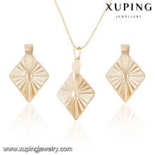 63890 Xuping mode beaux ensembles de bijoux en plaqué or italien