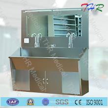 Fregadero de acero inoxidable para 2 personas (THR-SS027)