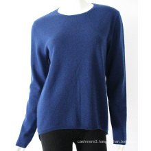 China Factory Price Navy Cashmere Sweater Women Pullover Sweater For Sale