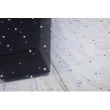 Tecido de malha de nylon com lulu e diamante