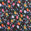 Floral Dress Short Sleeve With Rayon Plain Fabric