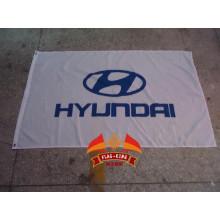 Bandera del equipo de carreras de coches HYUNDAI Bandera del club de coches HYUNDAI 90 * 150 CM 100% poliéster