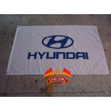 HYUNDAI car racing team flag HYUNDAI car club banner 90*150CM 100% polyster