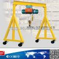 Empuje la grúa de pórtico simple 5t con alzamiento de cadena o alzamiento eléctrico