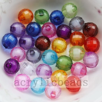 Hot sell clear earth shape jewelry bead in bead