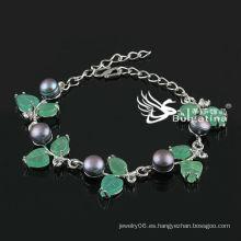 Pulsera simular redonda simple cerca de la perla Pulseras y brazaletes de la manera del precio de fábrica 2013 nuevo diseño