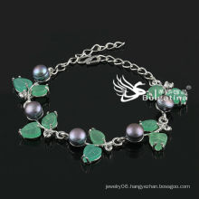 Simple Near Round Simulated Pearl Bracelet Factory Price Fashion Bracelets & Bangles 2013 New Design