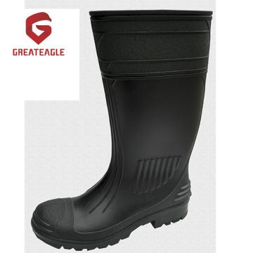 Botas de lluvia de seguridad de PVC de acero de alta calidad