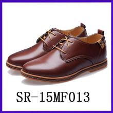 Calzados reales de los zapatos del fomal calza el calzado de los hombres superiores de la PU