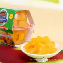 O pêssego amarelo congelado IQF corta