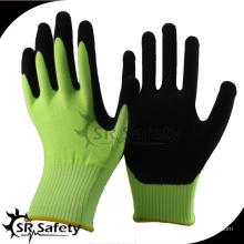 SRSAFETY 2016 13g зеленый нейлон лайнер пальмовое покрытие песочный нитрил авторемонт зеленые перчатки