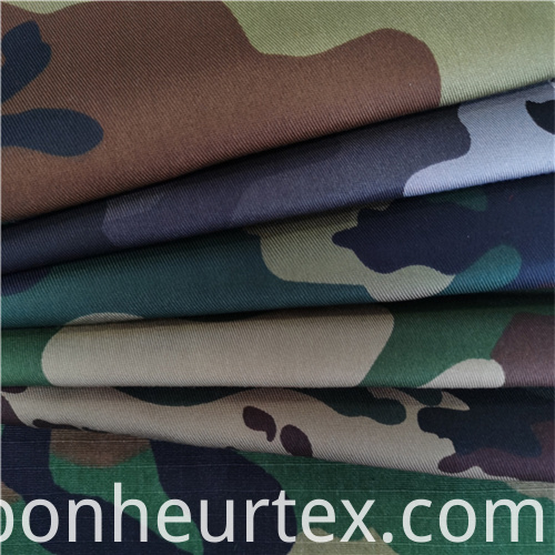 Tc Twill Blend Military Woodland Camouflage Fabric 10