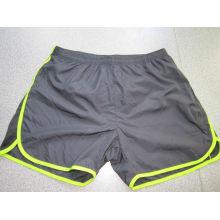 Yj-3022 Hommes doublées en microfibre Blue Running Workout Shorts