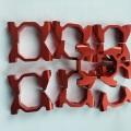 Vertical aluminum clamp for octagon carbon fiber tube