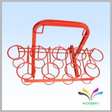La fábrica modificó directamente el soporte de exhibición de la taza del metal del minorista de la alta calidad