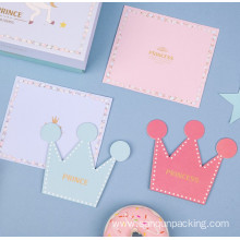 Crown shaped birthday card with envelope
