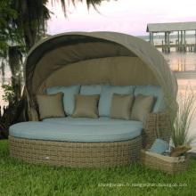 Banquette-lit de jardin Wicker Patio meubles extérieurs rotin