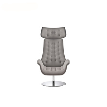 Office Headrest Swivel Fabric Visitor Lounge Fåtölj