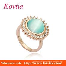 Mode grand anneau à doigts en or opale design pour femmes avec prix