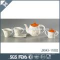 Porcelain elegant flower decal printing cheap japanese porcelain tea set