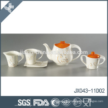 15pcs new porcelain flower decal design customized colored tea cup sets