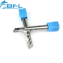 BFL- Molino de extremo indexable de flauta simple de carburo de tungsteno para Dibond