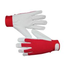 Comfortable Pig Grain Skin Gloves Cotton Back for General Working
