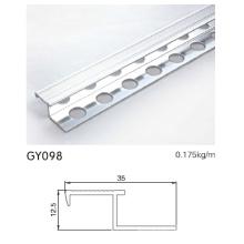Отделка кромочной грани алюминиевой лестницы