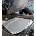 Disesuaikan Nylon Coated Silver Front Car Sunshade