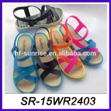 Sandalias ocasionales de la sandalia de las mujeres de la sandalia de las sandalias ocasionales cómodas 2015