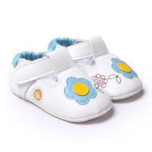 Белый Детская Обувь Мягкой Подошвой Анти-Слип 0-1 Год Детские Мокасины