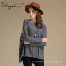 Conception de chandail à la main en laine de laine pure couleur hiver pour les filles