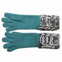 Luvas de moda senhora lã moda acrílico de malha de inverno (YKY5420)