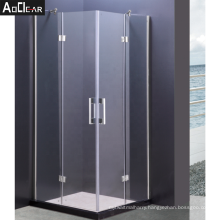 Aokeliya affordable durable 90x90cm shower enclosure with 2 fixed glass doors for all ages