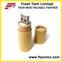 Papel reciclado USB Flash Drive com logotipo (D833)