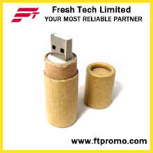 Papel reciclado USB Flash Drive con logotipo (D833)