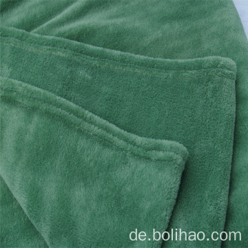 Plain Dye Coral Velvet Fleece Decke