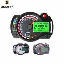 Universal 15000 RPM Digital LCD Motocicleta Velocímetro Tacômetro para 8-22 Polegada Roda Odômetro Bitola