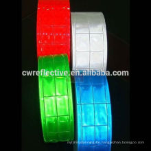 Buntes kundengebundenes kariertes reflektierendes PVC-Band für Stoff