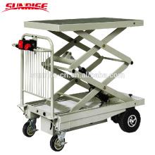 400kg capacity electric lift platform table truck
