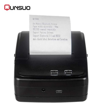 2inch portabel Bluetooth dot matrix printer 5.5MM / S kecepatan