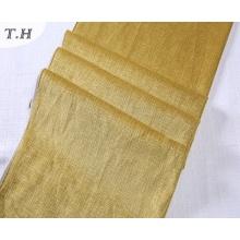 2017 Yellow Burn out Diseño de tela de terciopelo para sofá