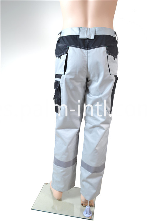 Gray/Black Polyester Cotton Pants