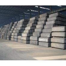 Ánodo de aluminio y carbono precocido (en lugar de coque de fundición)