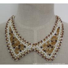 Женская мода Перл Кристалл коренастый колье ожерелье Принцесса ювелирные изделия (JE0055)