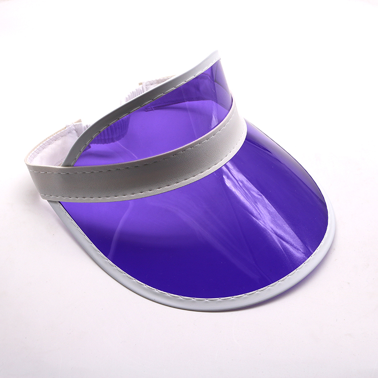 purple transparent pvc visor cap